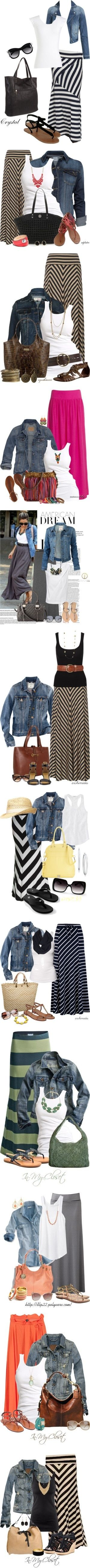 chevron skirt combos by sharonsparkles
