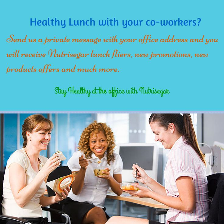 Time to share a healthy lunch with your colleagues! Send us a private message with your office address and we will send you all Nutrisegar's promotions, fliers, new offers and much more. Spread the word!  Stay healthy at the office with Nutrisegar.