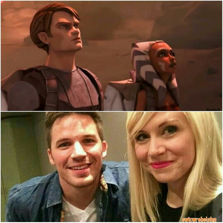 The master and the padawan on n off screen #SWTCWcast #Anakin #MattLanter…