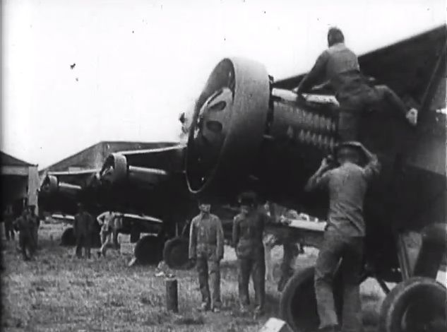 National Revolutionary Army planes being prepared for an air raid (early 1930s)