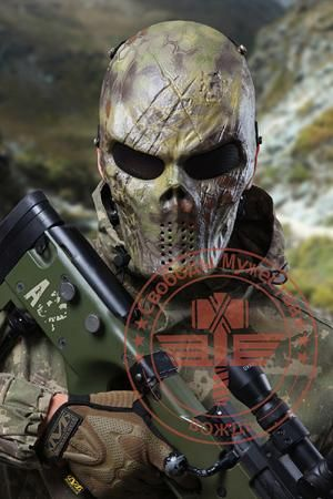 SINAIRSOFT Typhoon Camouflage Hunting Masks Ghost Tactical Outdoor Military CS Wargame Paintball Airsoft Skull Full Face Mask