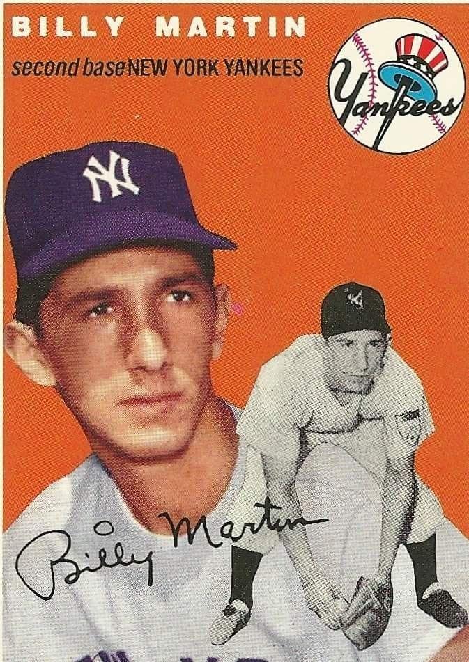 Billy Martin Baseball Cards New York Yankees Baseball