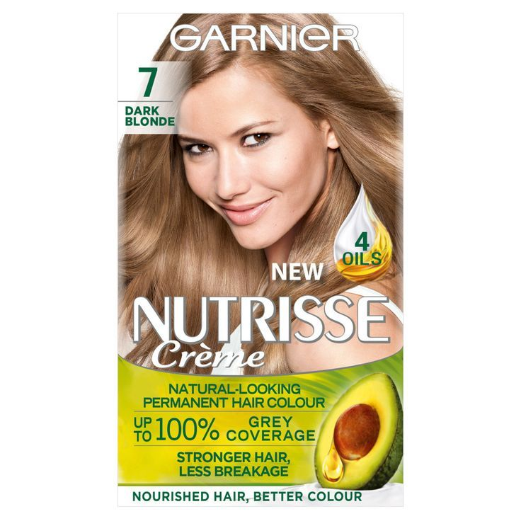 Garnier Nutrisse Creme 7 Dark Blonde Hair Dye In 2020 Dyed