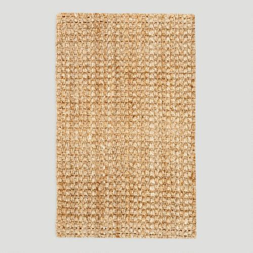 Basket-Weave Jute Rug.