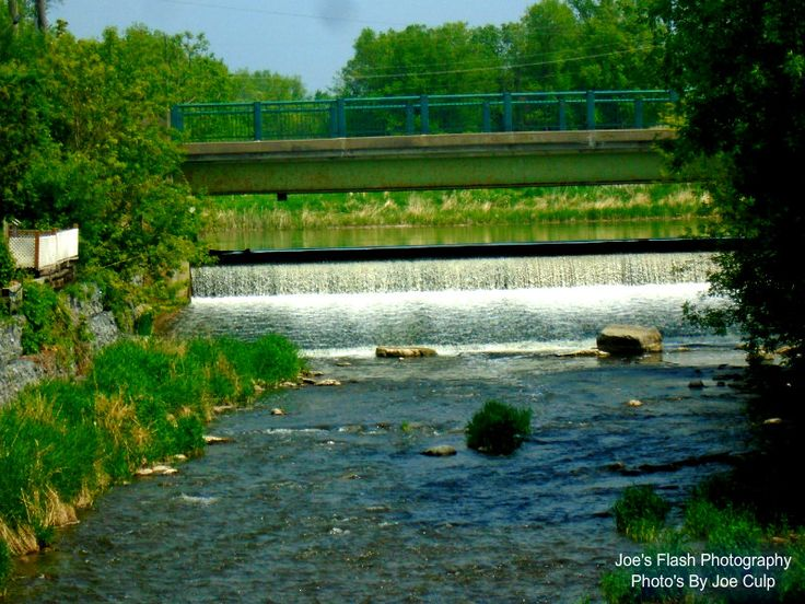 Waterfalls on Rawdon Creek in the Village of Stirling ontario