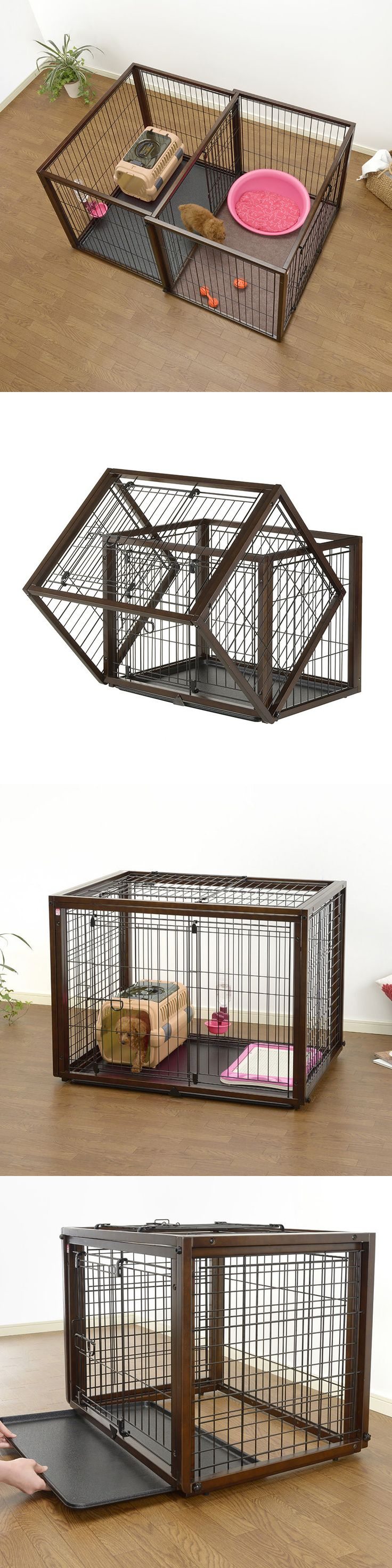 Cages and Crates 121851: Dog Crate And Play Pen Medium Pet Kennel Cage Exercise Tray Folding Puppy House -> BUY IT NOW ONLY: $379.99 on eBay!