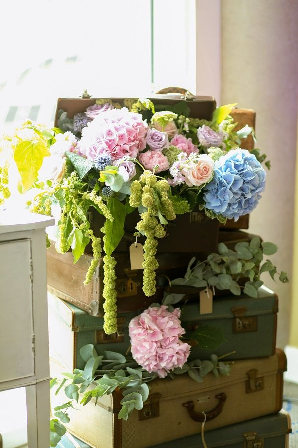 Best images about flowers suitcase on pinterest