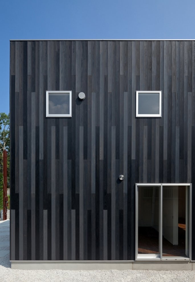 Nice small home elevation N House by TOFU