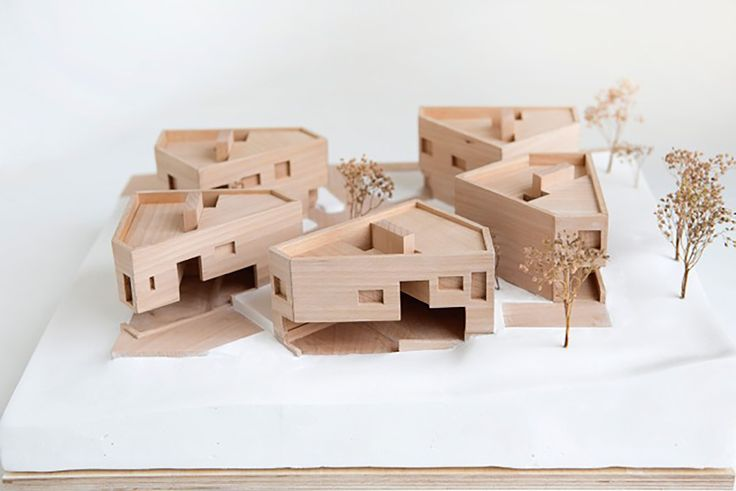 Unusual non-linear town house development model - Gallery of Gregers Grams Houses / R21 Arkitekter - 10