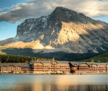 Great National Park Lodges: Many Glacier Hotel Glacier National Park Montana - I would love to go back there and stay in the lodge.