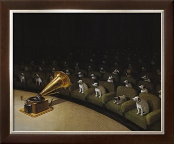 His Master's Voice Print by Michael Sowa at Art.com
