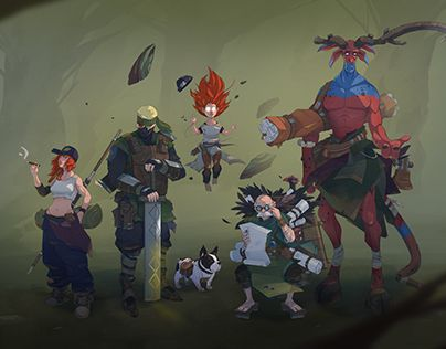 """Check out new work on my @Behance portfolio: """"Forest Calling / Characters"""" http://be.net/gallery/49492997/Forest-Calling-Characters"""