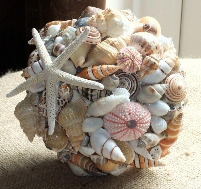 Beach Wedding Seashell Bouquet, nautical wedding, shell bouquet, by Jolly Fine Jewellery on Folksy, £80.00