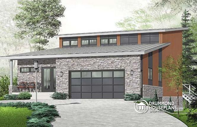 W3950 large well lit 3 bedroom contemporary on 3 for House plans with mezzanine floor