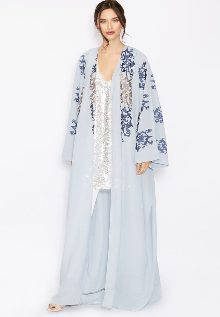 Shop multicolor Embroidered Detailed Abaya from Hayas Closet multicolor at Namshi.com - Women  in Saudi
