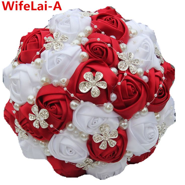 Cheap brooch pearl, Buy Quality brooch bouquet directly from China flower ponytail Suppliers: Best Selling Red Artificial Flower Bridal Bouquets Crystal Pearls Bridesmaid Bridal Wedding Bouquets W224 Multi-color Customized