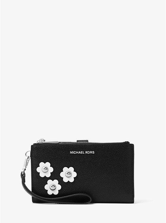 0d5fa1ead48a Adele Floral Appliqué Leather Smartphone Wristlet