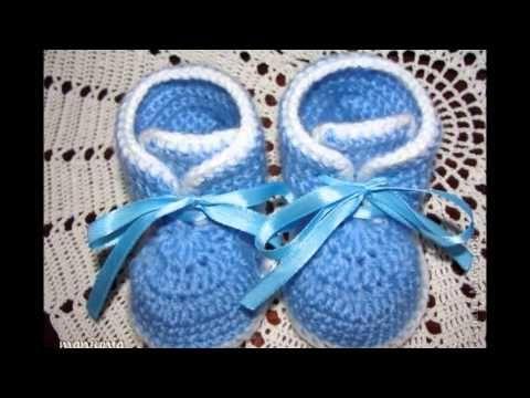 Como Tejer Botitas para Bebe!! Tejidas a Crochet!! - YouTube