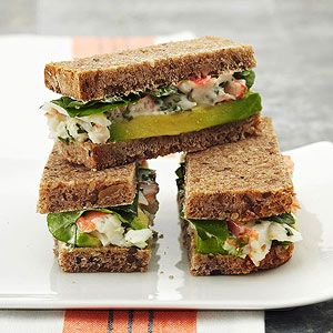 Crab, Avocado, and Watercress Sandwiches