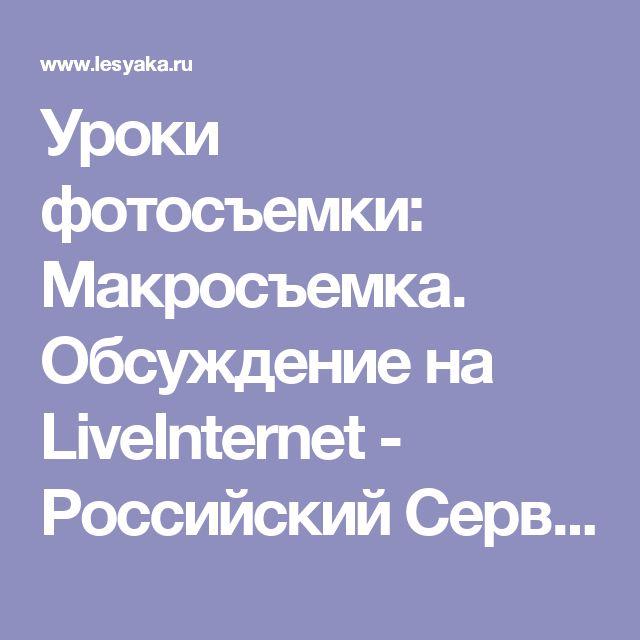 Уроки фотосъемки: Макросъемка. Обсуждение на LiveInternet - Российский Сервис Онлайн-Дневников