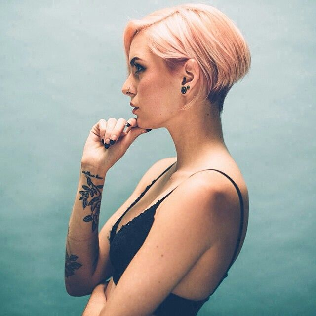 I didn't know where to pin this!!! #Undercut #PinkHair #Ink