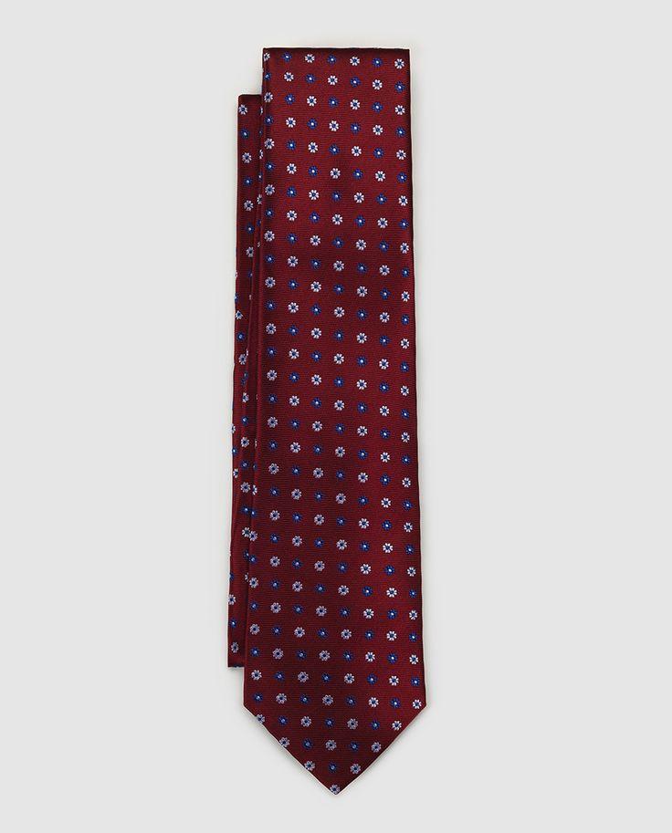 Corbata de seda roja con estampado · Emidio Tucci · Moda · El Corte Inglés