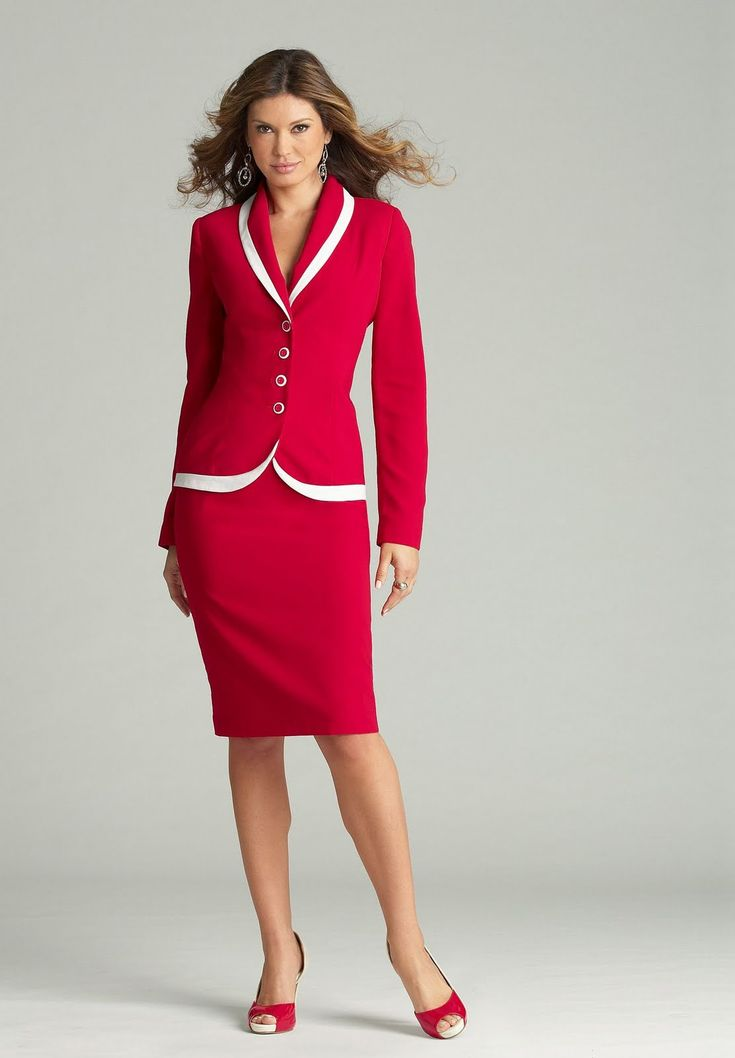 What to Wear to a Job Interview...classic red suite...super sharp!: Teacher Interview, Style, Color, Business Attire, Red Suits, Business Suits, Woman Suits, Skirts Suits, Woman Skirts
