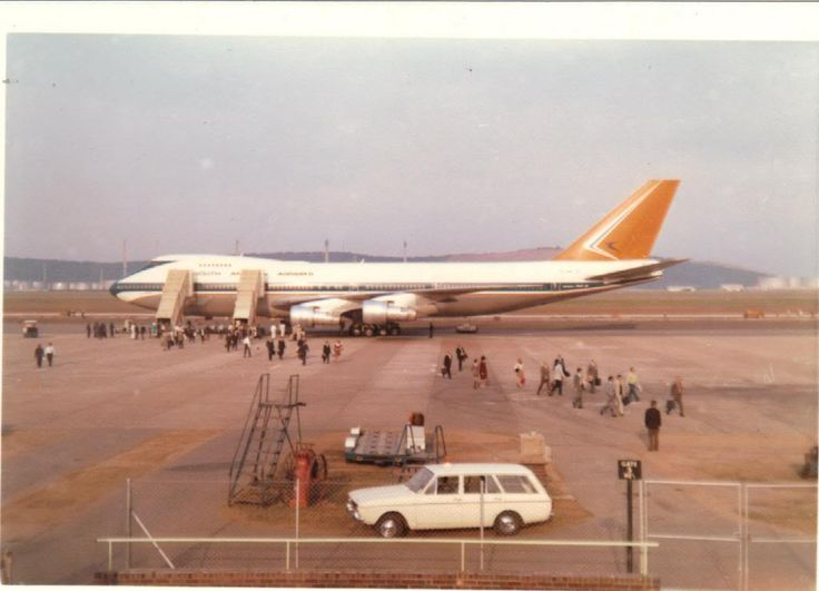 First South African Airways 747 ever at Loius Botha Airport