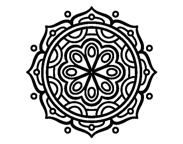 Mandala To Meditate Coloring Page