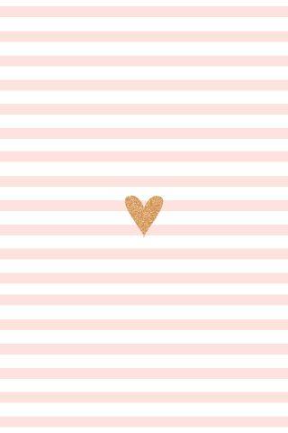 Herzchen mit Streifen