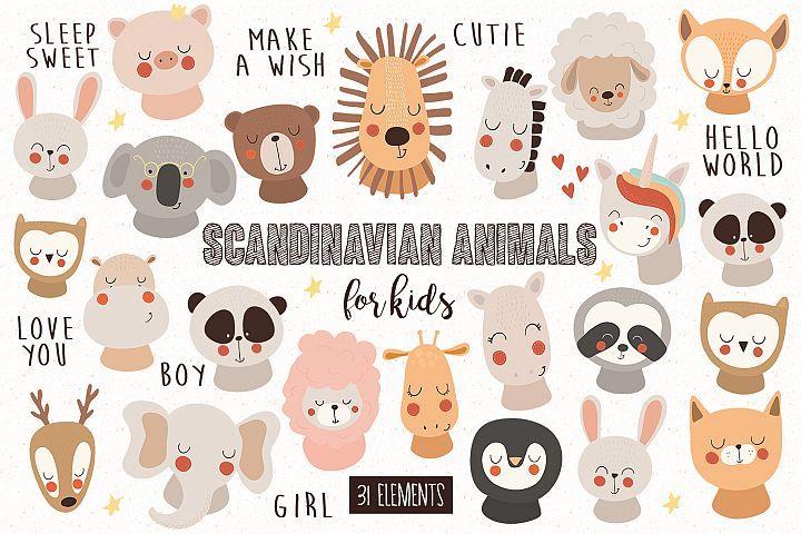 Scandinavian Animals For Kids Animals For Kids Free Design Resources Scandinavian