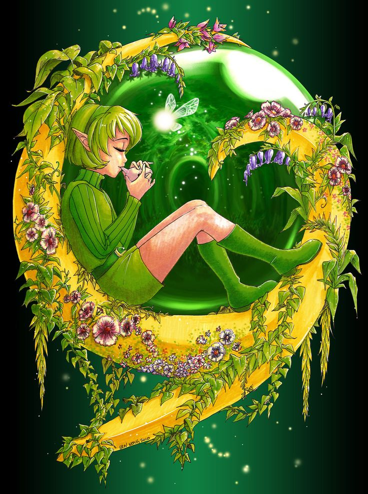 The Legend of Zelda: Ocarina of Time, Saria / Zelda - Spirits of the Forest by Nijuuni on deviantART