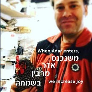 When the month of Adar enters, we increase joy! #purim #purim2017 #workspace #woodshop #petchicken