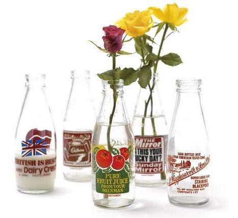 Vintage British Milk Bottles