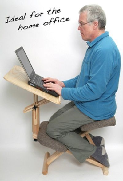 """When you correctly sit in a kneeling chair you then have achieved """"active sitting"""". Core muscles are engaged and you will find posture can improve overnight. You will find that your joints are less stiff, and overall you will have better focus and higher concentration levels."""