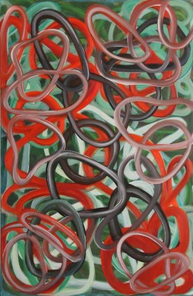"""Saatchi Art Artist Daria Magda  Błażek; Painting, """"Qi gong flow"""" #art"""