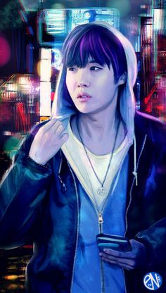 Jung Ho Seok dibujo increíble!!