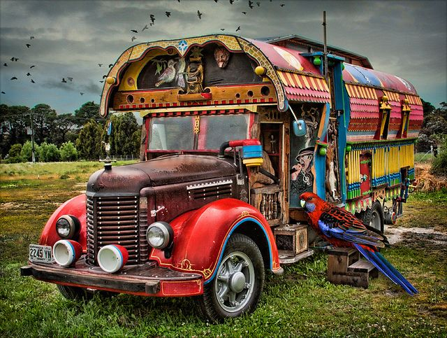 Dream 1: Travel around in a gypsy caravan. going from one concert to another, festival to festival. Having fun!