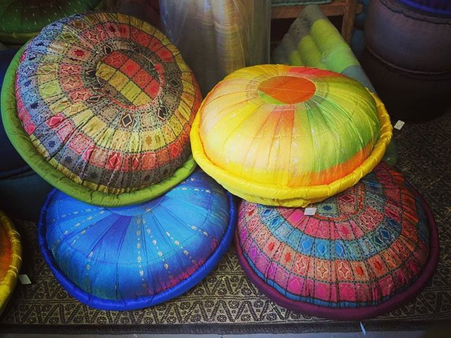 Sari Meditation Cushions handmade in Bali! Beautiful array of colors to match any room. #pillows #meditation #consciousness #awareness #bali #meditationcushion