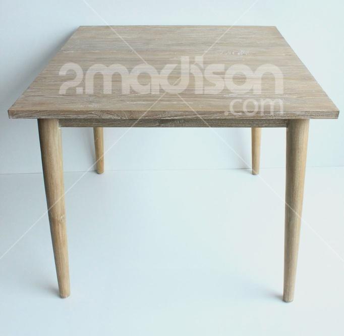 Retro Wooden Dining Table  www.2madison.com  Natural white retro dining table, koleksi Madison yang didesain khusus untuk membuat dining room terlihat lebih stylish.  Designer : Madison