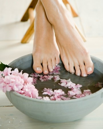 How to Soften Your Feet    Bathe your feet in a blend of warm water and milk for 10 minutes since the lactic acid in dairy helps soften rough skin. To buff away calluses, use a pumice stone or plain old sugar -- skip the shavers and graters, which can tear skin leaving behind raw spots.