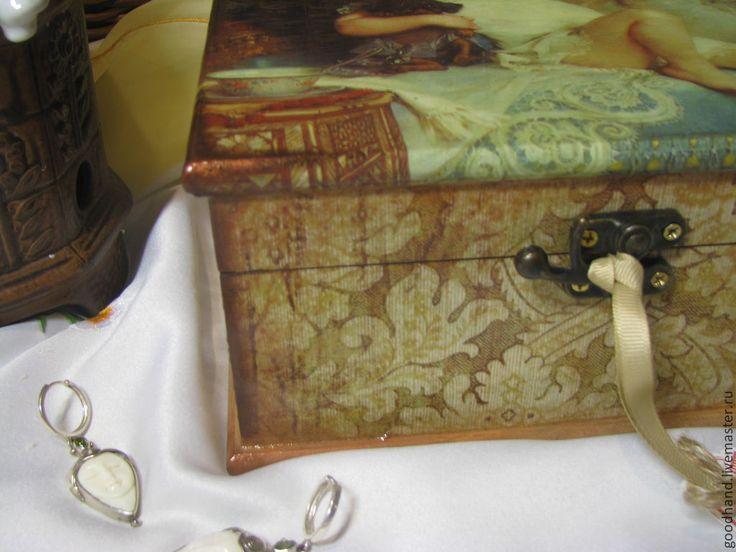 """Купить Шкатулка """"Детские забавы"""" - подарок девушке, ручная работа, handmade, хранение мелочей"""