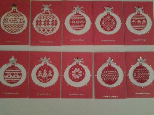 Het zijn maar 10 kerstkaarten geworden.....de tijd om er meer te maken ontbreekt, helaas ! 4-12-2013