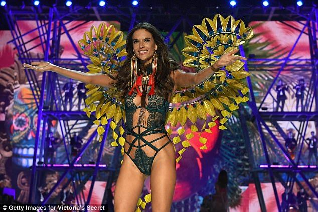 Last year, the show took place in Paris, France, which had been impacted by the Paris terror attack and Kim Kardashian's jewelry robbery ahead of the show. Pictured is Alessandra Ambrosio during last year's event