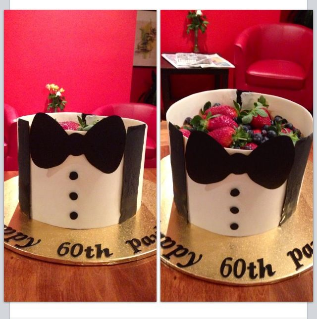 Chocolate Collar Chocolate Decorated Bow Tie Cake With