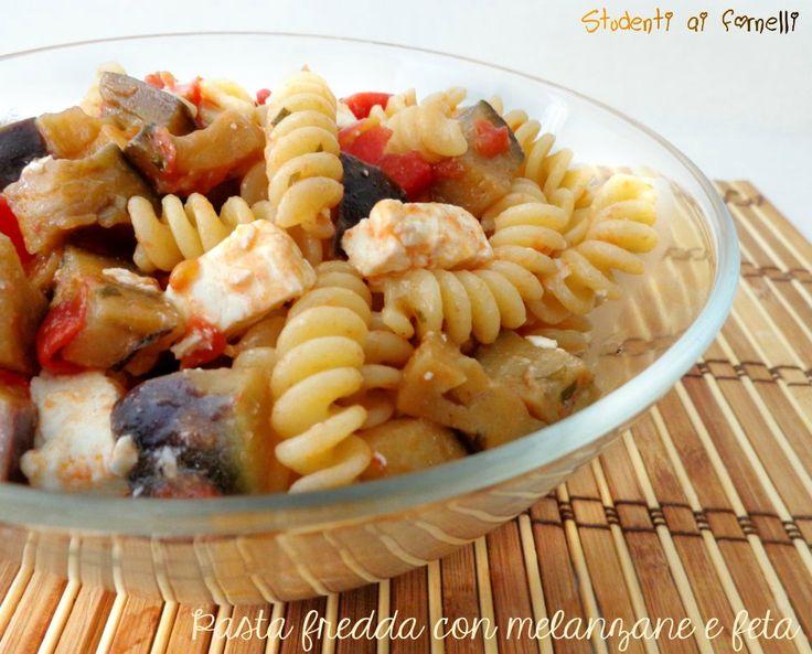 Pasta fredda con melanzane e feta ricetta insalata di pasta estiva