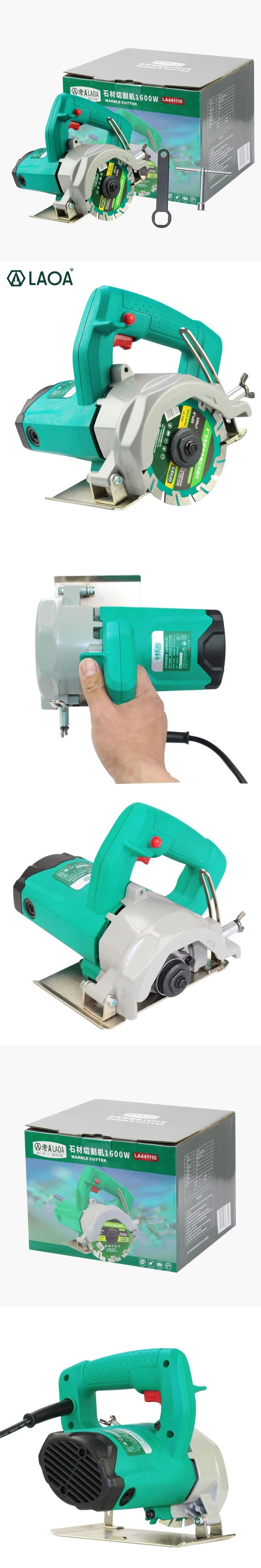 LAOA New product 1600W electric cutting machine electric saw for cutting wood,marble,brick,concrete