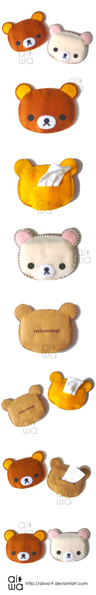 CUTE!! rilakkuma tissue holder