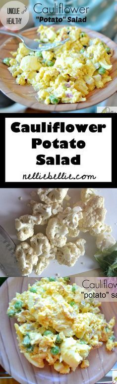 "Substitute cauliflower for potatoes in this delicious ""potato salad""!"