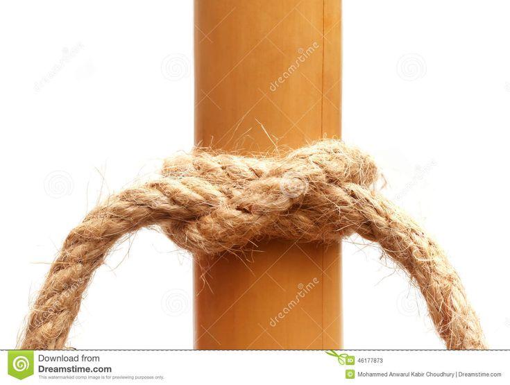 Seilknoten auf einem Bambus